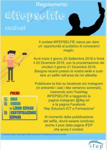 VINCI 500 € CON #IFEPSELFIE. IL CONTEST E' GIA' INIZIATO!